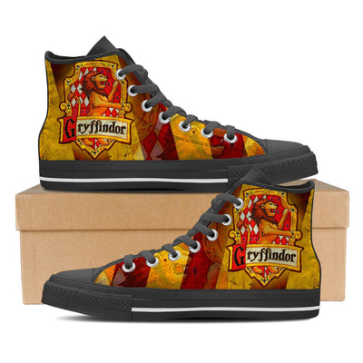 Gryffindor Men High Top Canvas Shoes-Shoe-TEEPEAT