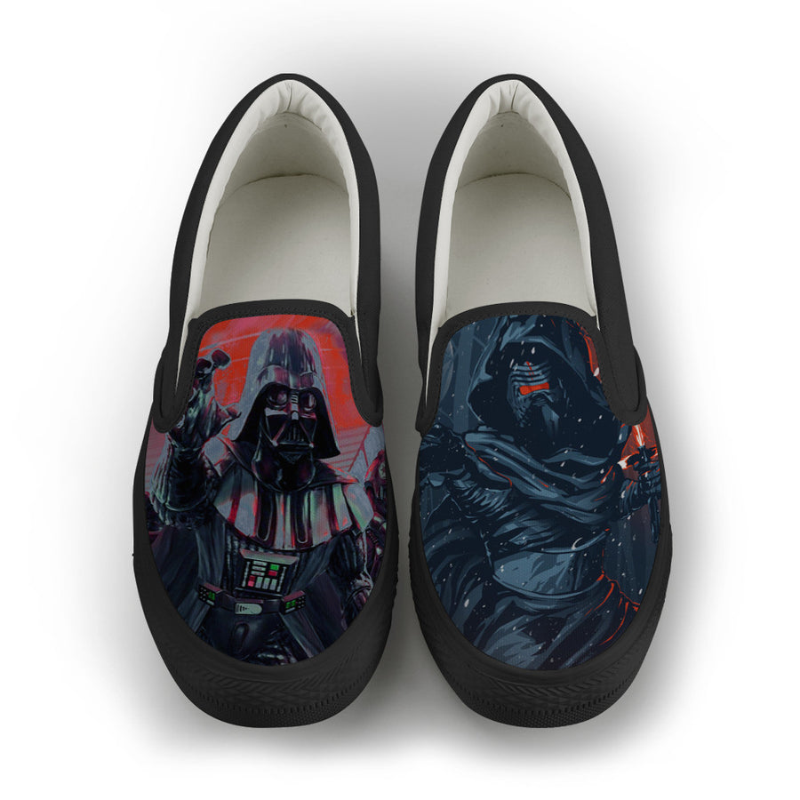 Vader x Kylo Retro Men Slip-On Canvas Shoes