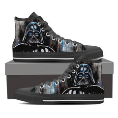 Star Wars Vader Smudges Men High Top Canvas Shoes