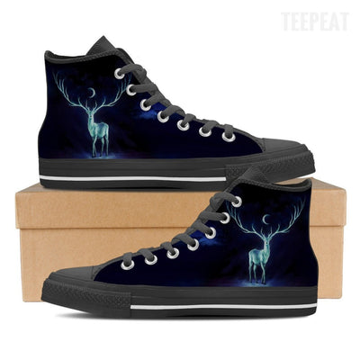 Patronus Dark Men High Top Canvas Shoes-Shoes-TEEPEAT