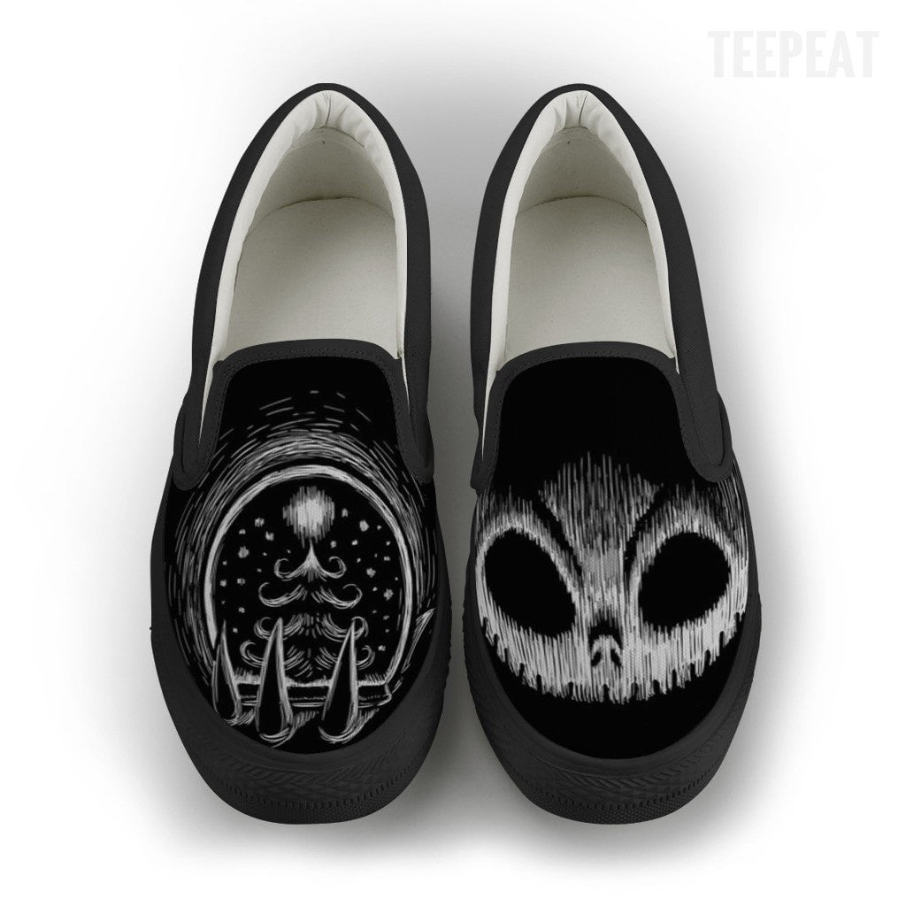 Jack Skellington Chalky Dark Men Slip-On Canvas Shoe