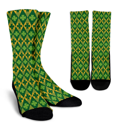 St Patrick's Diamond Socks