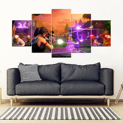 Fortnite- Looters Paradise 5 Piece Canvas