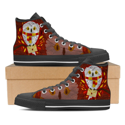 Hedwig Mail Men High Top Canvas Shoe-Shoes-TEEPEAT