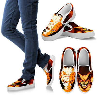 Naruto Kyuubi Slip-On Canvas Shoes