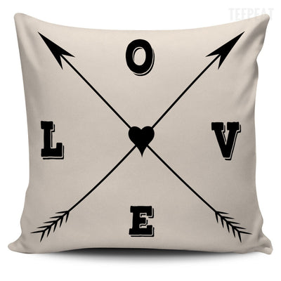 Love Arrows Pillows-Pillows-TEEPEAT