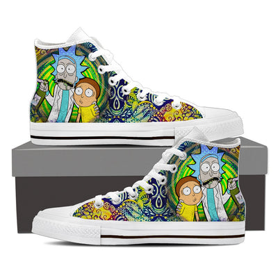 Psychedelic High Top Canvas Shoes