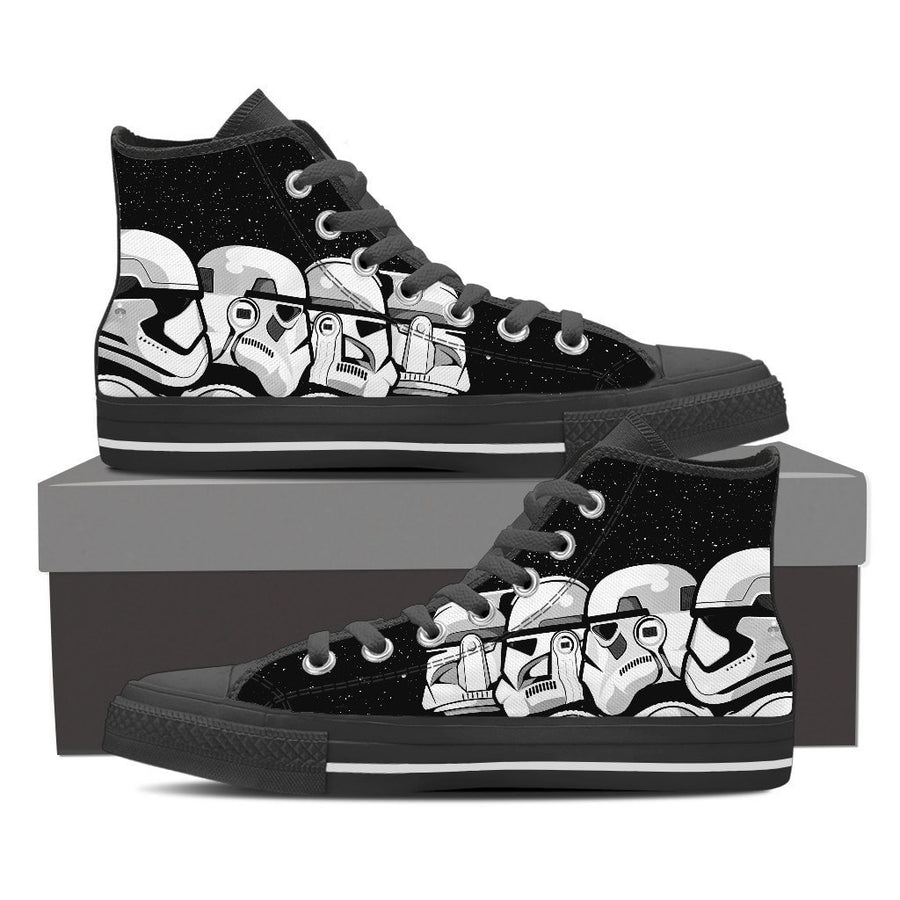 5791a6b56072 Star Wars Trooper Evo Men High Top Canvas Shoes