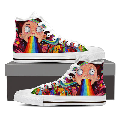 Morty Abstract High Top Canvas Shoes