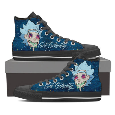 Get Schwifty High Top Canvas Shoes