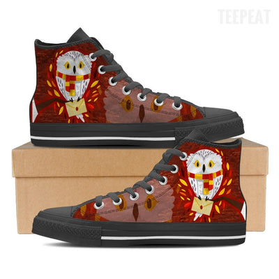 Hedwig Mail Women High Top Canvas Shoe-Shoes-TEEPEAT