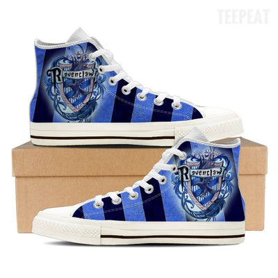 Ravenclaw Women High Top Canvas Shoes-Shoe-TEEPEAT