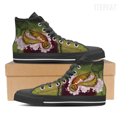 Quidditch Snithed Women High Top Canvas Shoes-Shoe-TEEPEAT