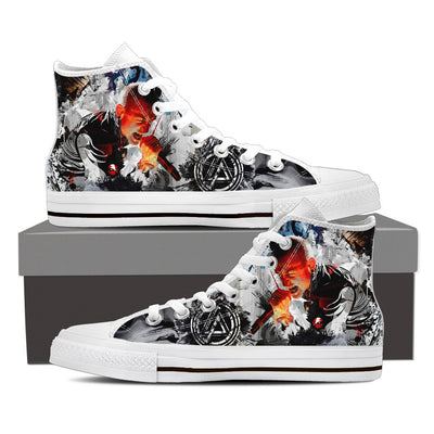 One Step Closer High Top Canvas Shoes