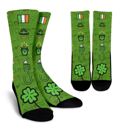 St Patrick's Icon Elements Socks