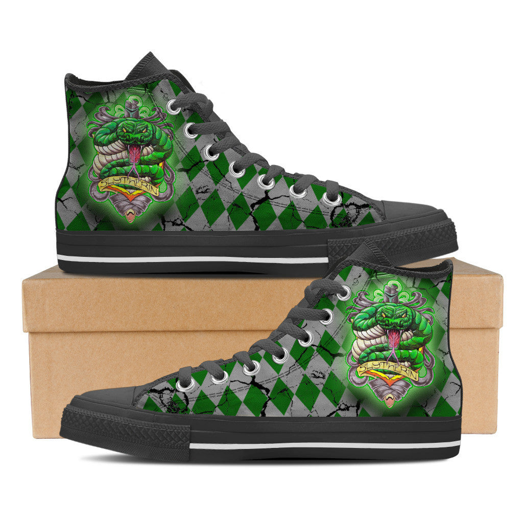 Slytherin Women High Top Canvas Shoes