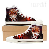 Ron W. Women High Top Canvas Shoes