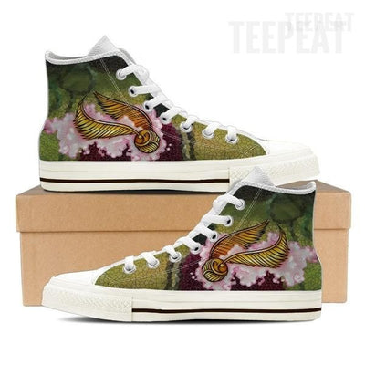 Quidditch Snithed Men High Top Canvas Shoes-Shoe-TEEPEAT