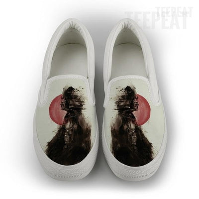 Vader Jap Smudge Women Slip-On Canvas Shoe-Shoes-TEEPEAT