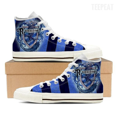 Ravenclaw Men High Top Canvas Shoes-Shoe-TEEPEAT