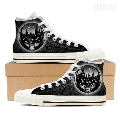 Hogwarts Tattoo Women High Top Canvas Shoe-Shoe-TEEPEAT
