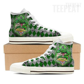 Slytherin Women High Top Canvas Shoes-Shoe-TEEPEAT