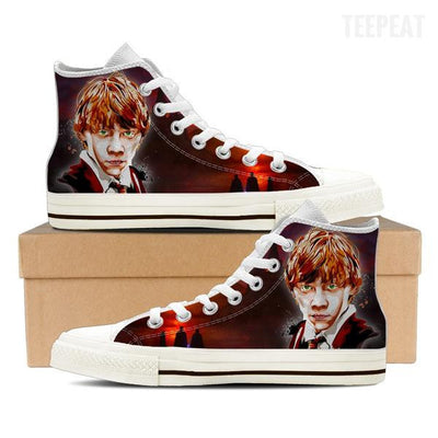 Ron W. Men High Top Canvas Shoes-Shoes-TEEPEAT