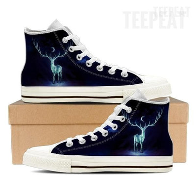 Patronus Dark Women High Top Canvas Shoes-Shoes-TEEPEAT