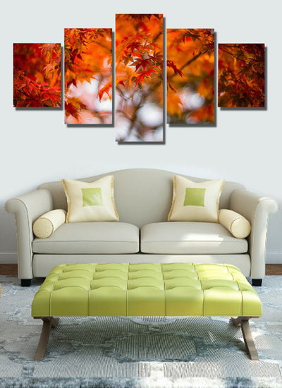 Maple Leaves Cuadros - 5 Piece Painting
