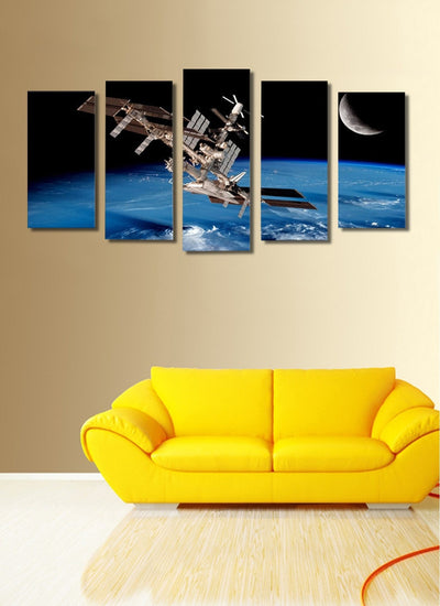 Satellite Space Landscape View - 5 Piece Canvas