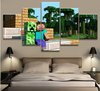 MINECRAFT Steve Creeper - 5 Piece Canvas Painting