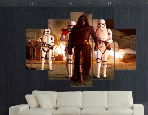 Kylo Ren Painting - 5 Piece Canvas LIMITED EDITION-Canvas-TEEPEAT