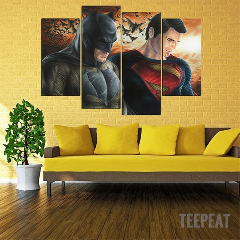 New B-man vs S-man - 5 Piece Canvas LIMITED EDITION - The Nerd Cave