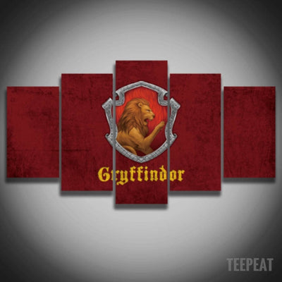 Gryffindor Painting - 5 Piece Canvas-Canvas-TEEPEAT