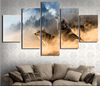 Three Wolves In The Mountains Roar - 5 Piece Canvas-Canvas-TEEPEAT
