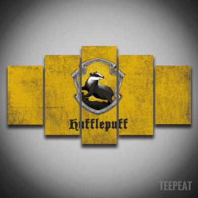 Hufflepuff Painting - 5 Piece Canvas-Canvas-TEEPEAT