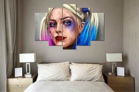 Suicide Harley - 5 Piece Canvas Painting-Canvas-TEEPEAT