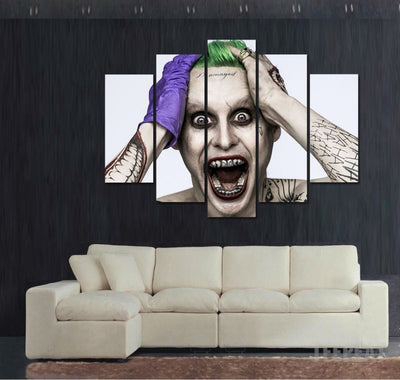 Leto Joker Painting - 5 Piece Canvas-Canvas-TEEPEAT