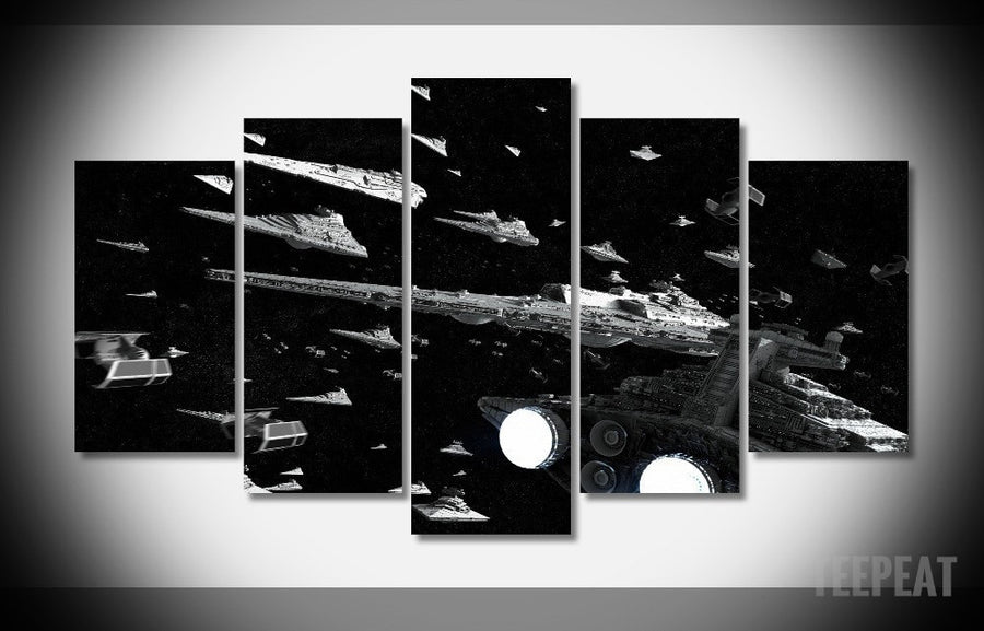 Imperial Fleet Painting - 5 Piece Canvas-Canvas-TEEPEAT