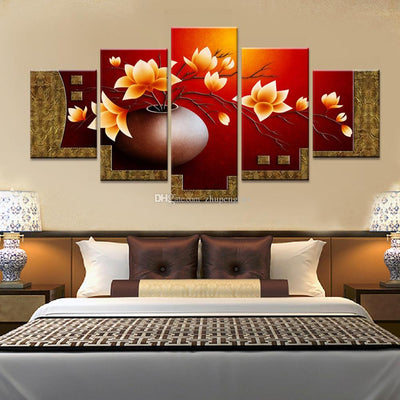 Magnolia Flowers of Summer - 5 Piece Canvas