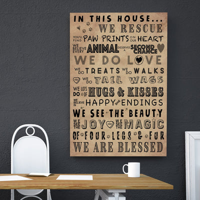 Dog Rescue Poem Canvas