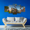 Fortnite - Battle Zone 5 Piece Canvas