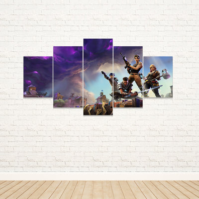 Fortnite - Zombies 5 Piece Canvas