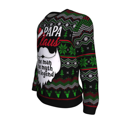 Papa Claus (The Man, The Myth, The Legend) Ugly Sweater V5