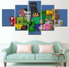 MINECRAFT Game Poster Version 2 - 5 Piece Canvas Painting
