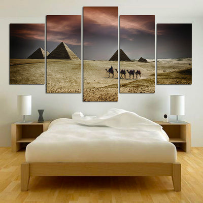 Egyptian Pyramids - 5 Piece Canvas