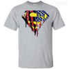 Superman US Flag Men Light Tee-Apparel-TEEPEAT