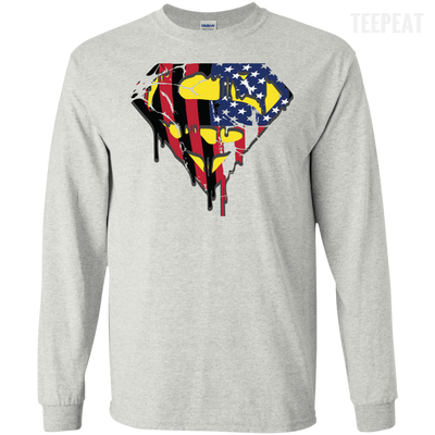 Superman US Flag Men And Women Light Tee-Apparel-TEEPEAT