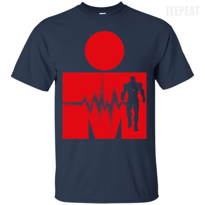 Iron Man Pulse Dark Tee-Apparel-TEEPEAT