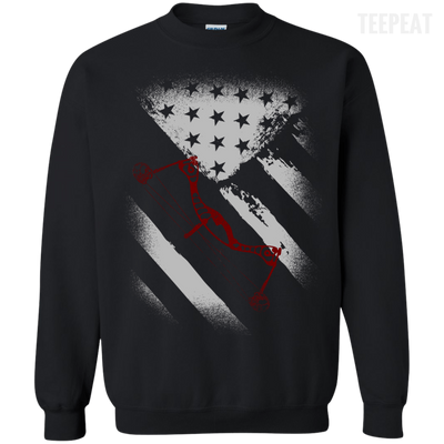 USA Flag Bow Hunter Tee-Apparel-TEEPEAT